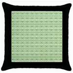 Pattern Throw Pillow Case (Black) Front