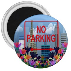 No Parking  3  Magnets by Valentinaart