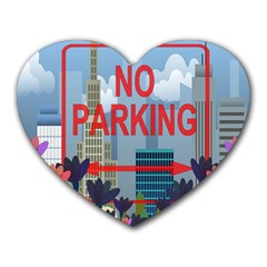 No Parking  Heart Mousepads