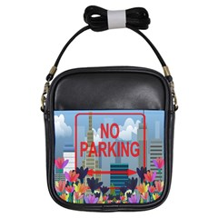 No Parking  Girls Sling Bags by Valentinaart