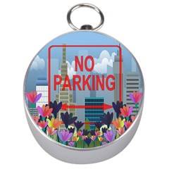 No Parking  Silver Compasses by Valentinaart