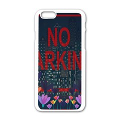 No Parking  Apple Iphone 6/6s White Enamel Case by Valentinaart