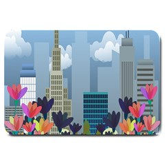 Urban Nature Large Doormat  by Valentinaart