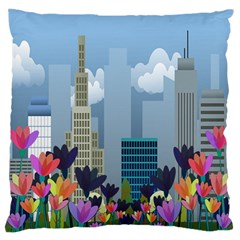 Urban Nature Large Flano Cushion Case (two Sides) by Valentinaart