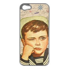 Little Sailor  Apple Iphone 5 Case (silver) by Valentinaart