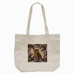 Vintage Owl And Lilac Tote Bag (cream) by Valentinaart