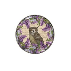 Vintage Owl And Lilac Hat Clip Ball Marker by Valentinaart