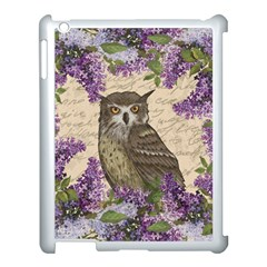 Vintage Owl And Lilac Apple Ipad 3/4 Case (white) by Valentinaart