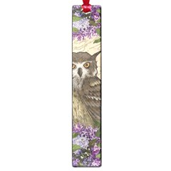 Vintage Owl And Lilac Large Book Marks by Valentinaart