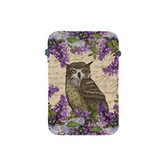 Vintage Owl And Lilac Apple Ipad Mini Protective Soft Cases by Valentinaart