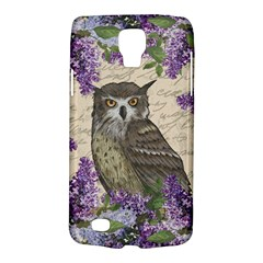 Vintage Owl And Lilac Galaxy S4 Active by Valentinaart