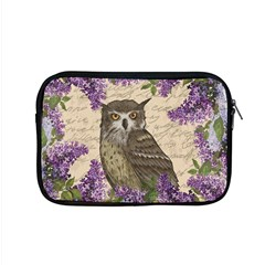 Vintage Owl And Lilac Apple Macbook Pro 15  Zipper Case by Valentinaart