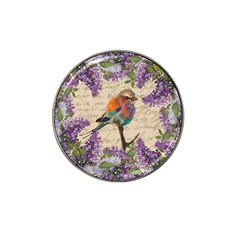 Vintage Bird And Lilac Hat Clip Ball Marker (10 Pack) by Valentinaart
