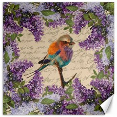 Vintage Bird And Lilac Canvas 20  X 20   by Valentinaart