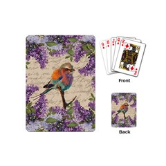 Vintage Bird And Lilac Playing Cards (mini)  by Valentinaart