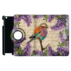 Vintage Bird And Lilac Apple Ipad 3/4 Flip 360 Case by Valentinaart