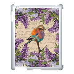 Vintage Bird And Lilac Apple Ipad 3/4 Case (white) by Valentinaart