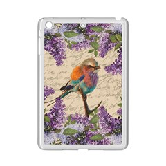 Vintage Bird And Lilac Ipad Mini 2 Enamel Coated Cases by Valentinaart