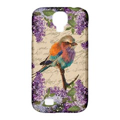 Vintage Bird And Lilac Samsung Galaxy S4 Classic Hardshell Case (pc+silicone) by Valentinaart