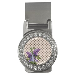 Vintage Lilac Money Clips (cz)  by Valentinaart
