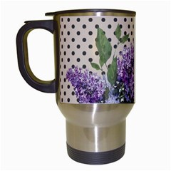 Vintage Lilac Travel Mugs (white) by Valentinaart