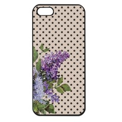 Vintage Lilac Apple Iphone 5 Seamless Case (black) by Valentinaart