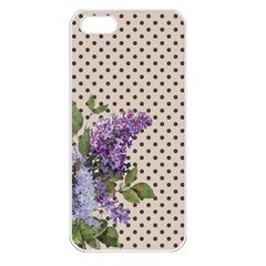 Vintage Lilac Apple Iphone 5 Seamless Case (white) by Valentinaart