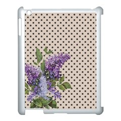 Vintage Lilac Apple Ipad 3/4 Case (white) by Valentinaart