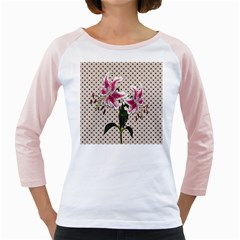 Vintage Flowers Girly Raglans