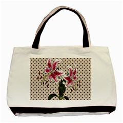 Vintage Flowers Basic Tote Bag by Valentinaart