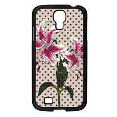 Vintage Flowers Samsung Galaxy S4 I9500/ I9505 Case (black)