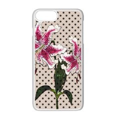 Vintage Flowers Apple Iphone 7 Plus White Seamless Case by Valentinaart