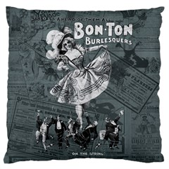 Bon Ton Large Flano Cushion Case (one Side) by Valentinaart