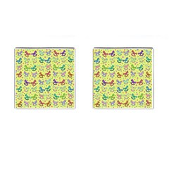 Toys Pattern Cufflinks (square) by Valentinaart