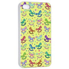 Toys Pattern Apple Iphone 4/4s Seamless Case (white) by Valentinaart