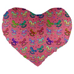 Toys Pattern Large 19  Premium Heart Shape Cushions by Valentinaart