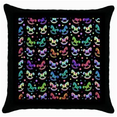Toys pattern Throw Pillow Case (Black)