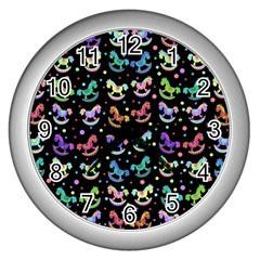 Toys pattern Wall Clocks (Silver)