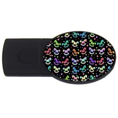Toys pattern USB Flash Drive Oval (2 GB)