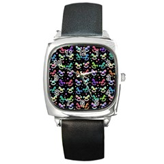 Toys pattern Square Metal Watch