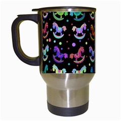 Toys pattern Travel Mugs (White)