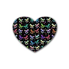 Toys pattern Rubber Coaster (Heart)