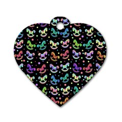 Toys pattern Dog Tag Heart (One Side)