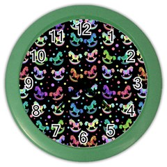 Toys pattern Color Wall Clocks