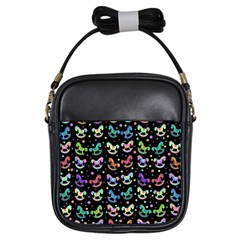 Toys pattern Girls Sling Bags
