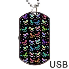 Toys pattern Dog Tag USB Flash (One Side)