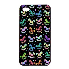 Toys pattern Apple iPhone 4/4s Seamless Case (Black)