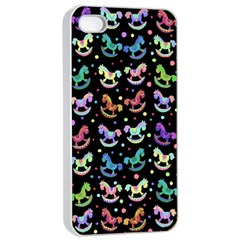 Toys pattern Apple iPhone 4/4s Seamless Case (White)