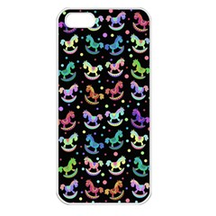 Toys pattern Apple iPhone 5 Seamless Case (White)