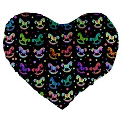 Toys pattern Large 19  Premium Heart Shape Cushions